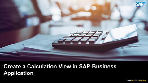 Thumbnail for entry Tutorial 8: Create a Calculation View in SAP Business Application Studio - SAP HANA Cloud
