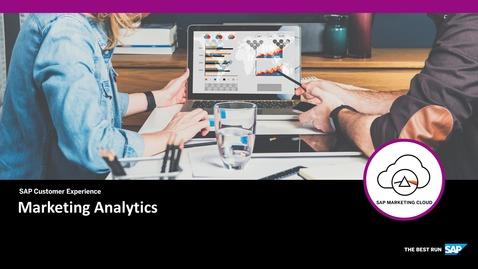 Thumbnail for entry Marketing Analytics - SAP Marketing Cloud