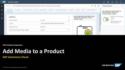 Thumbnail for entry Add Media to a Product - SAP Commerce Cloud