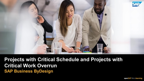Thumbnail for entry Projects with Critical Schedule and Projects with Critical Work Overrun - SAP Business ByDesign