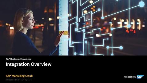 Thumbnail for entry Integrations - SAP Marketing Cloud