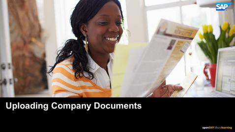 Thumbnail for entry Uploading Company Documents - SAP SuccessFactors