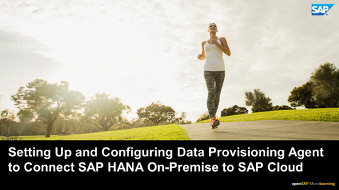 Thumbnail for entry Setting Up and Configuring the Data Provisioning Agent to Connect SAP HANA On-Premise to SAP HANA Cloud