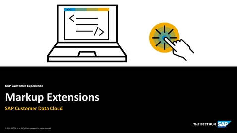 Thumbnail for entry Markup Extensions - SAP Customer Identity