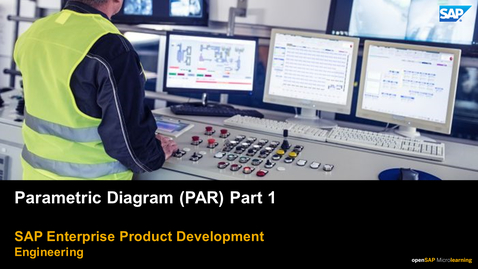 Thumbnail for entry Parametric Diagram (PAR) Part 1 - PLM: Systems Engineering