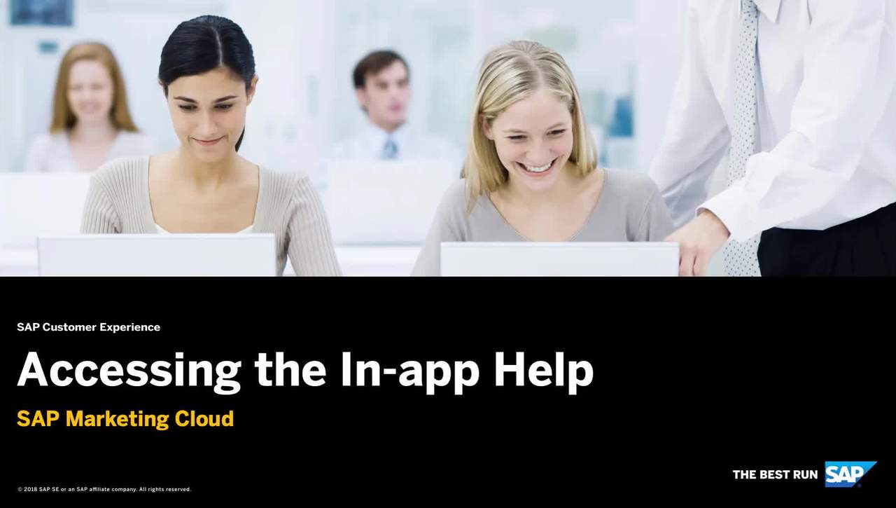 Accessing the In-App Help - SAP Marketing Cloud