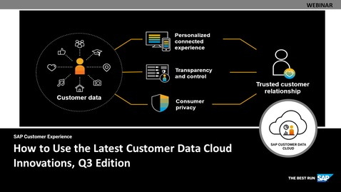 Thumbnail for entry How to Use the Latest Customer Data Cloud Innovations, Q3 Edition - Webinars