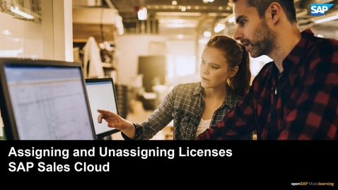 Thumbnail for entry Assigning and Unassigning Licenses - SAP Sales Cloud