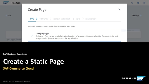Thumbnail for entry Create a Static Page - SAP Commerce Cloud
