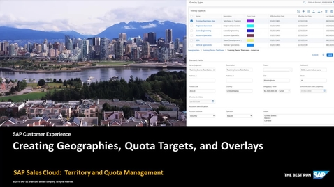 Thumbnail for entry Creating Geographies, Quota Targets, and Overlays in Territory and Quota Management