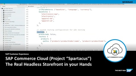 """Thumbnail for entry SAP Commerce Cloud (Project """"Spartacus"""")  The Real Headless Storefront In Your Hands - Webinars"""