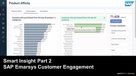 Thumbnail for entry Smart Insight Part 2 - SAP Emarsys Customer Engagement