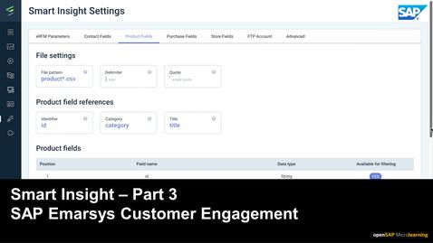 Thumbnail for entry Smart Insight - Part 3 - SAP Emarsys Customer Engagement