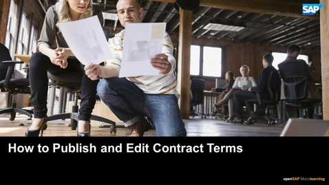 Thumbnail for entry How to Publish and Edit Contract Terms - SAP Ariba