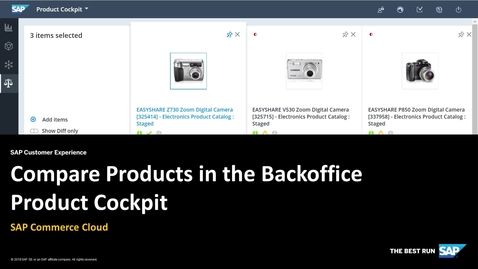 Thumbnail for entry Compare Products in the Backoffice Product Cockpit - SAP Commerce Cloud