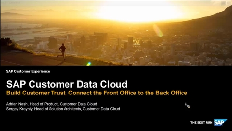 Thumbnail for entry Intelligent Solution - SAP Customer Data Cloud