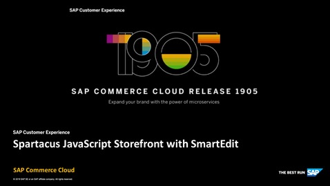 Thumbnail for entry Spartacus JS Storefront Support with SmartEdit - SAP Commerce Cloud Release 1905