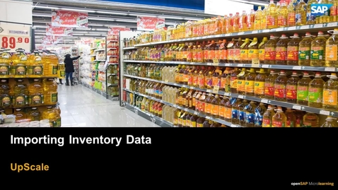 Thumbnail for entry Importing Inventory Data -SAP Upscale Commerce