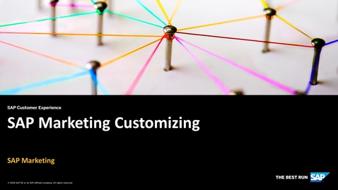 Thumbnail for entry SAP Marketing Customizing - SAP Marketing