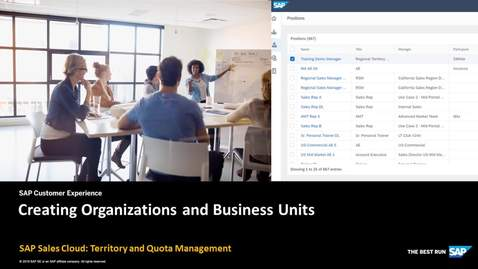 Thumbnail for entry Creating Organizations and Business Units in Territory and Quota Management