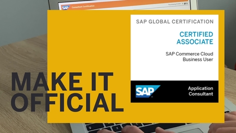 Thumbnail for entry Make your SAP CX Certification Official - SAP CX Enablement