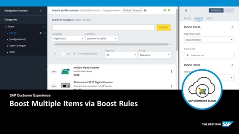 Thumbnail for entry Boost Multiple Items via Boost Rules - SAP Commerce Cloud