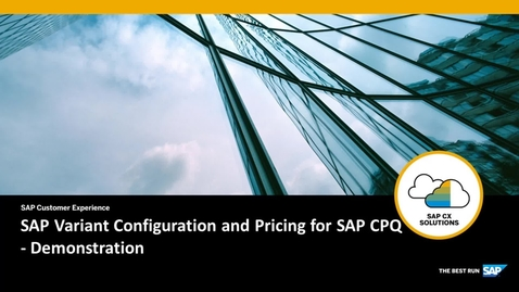 Thumbnail for entry SAP Variant Configuration and Pricing for SAP CPQ - Demonstration