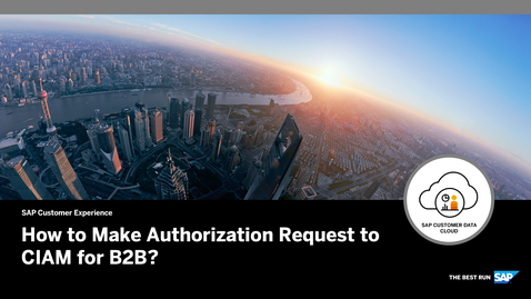 Thumbnail for entry B2B Authorization Request Demo - SAP Customer Data Cloud