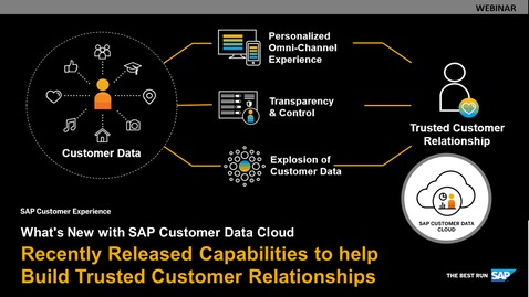 Thumbnail for entry What's New With SAP Customer Data Cloud, Q4 edition - Webinars
