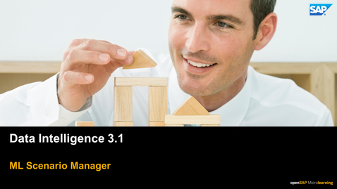 Thumbnail for entry Machine Learning Scenario Manager - SAP Data Intelligence