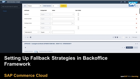 Thumbnail for entry Setting Up Fallback Strategies in Backoffice Framework in Backoffice Framework - SAP Commerce Cloud