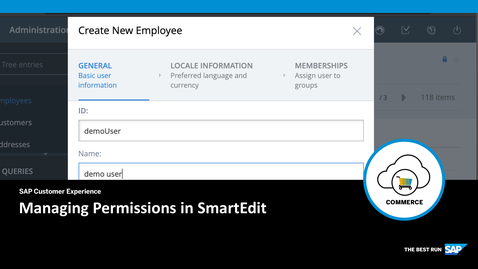 Thumbnail for entry Managing Permissions in SmartEdit- SAP Commerce Cloud