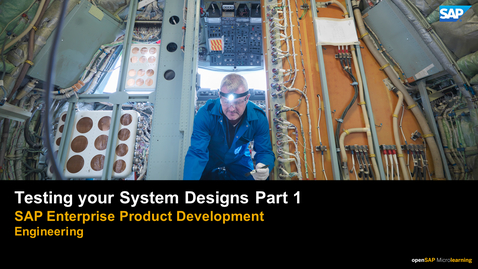 Thumbnail for entry Testing Your System Designs Part 1 - PLM: Systems Engineering