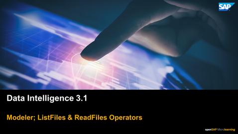 Thumbnail for entry Graphs & Operators - SAP Data Intelligence