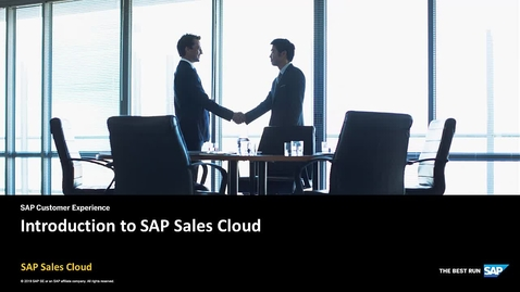 Thumbnail for entry Introduction - SAP Sales Cloud