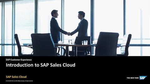 Thumbnail for entry Introduction - SAP Sales Cloud