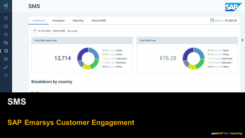 Thumbnail for entry SMS - SAP Emarsys Customer Engagement