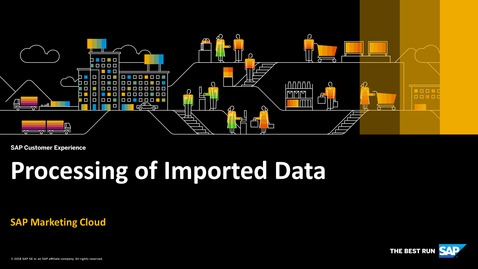 Thumbnail for entry Processing of Imported Data - SAP Marketing Cloud