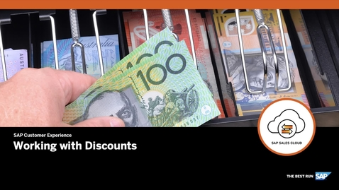 Thumbnail for entry Working with Discounts - SAP CPQ