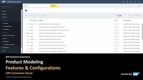 Thumbnail for entry Product Modeling - SAP Commerce Cloud