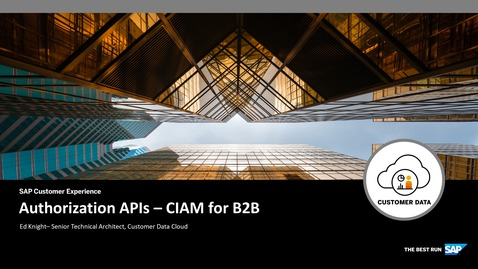 Thumbnail for entry Authorization APIs - CIAM for B2B