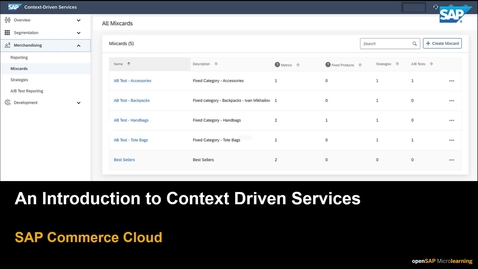 Thumbnail for entry An Introduction to Context Driven Services in SAP Commerce Cloud