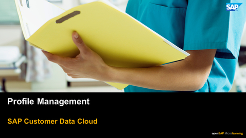Thumbnail for entry Profile Management - SAP Customer Data
