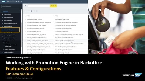 Thumbnail for entry Working with Promotion Engine in Backoffice - SAP Commerce Cloud