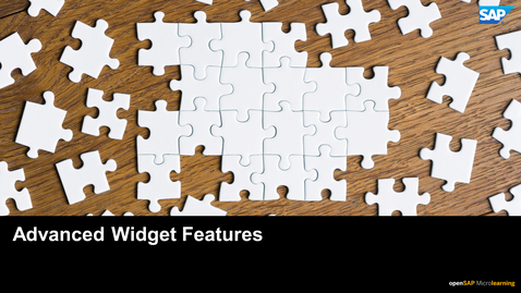 Thumbnail for entry Working with Advanced Widget Features in Backoffice Framework - SAP Commerce Cloud