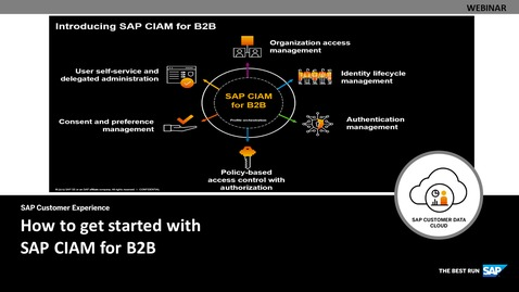 Thumbnail for entry How to get started with SAP CIAM for B2B