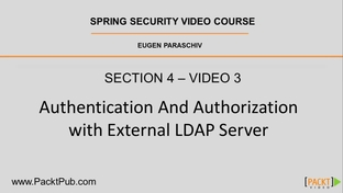 Authentication and Authorization with an External LDAP Server