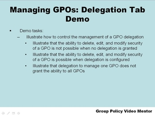 Lab 4: Managing Group Policy Objects Through Delegation