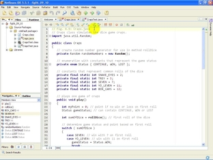 Craps java - simulate the dice game - Java Fundamentals I and II