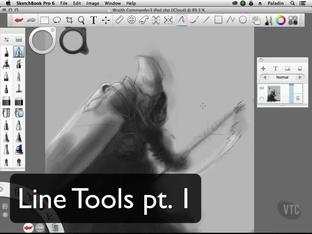 Line Tools pt  1 - Autodesk Sketchbook Pro 6 for Desktop and iPad